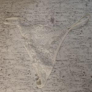 Victoria's Secret White Lace Thong